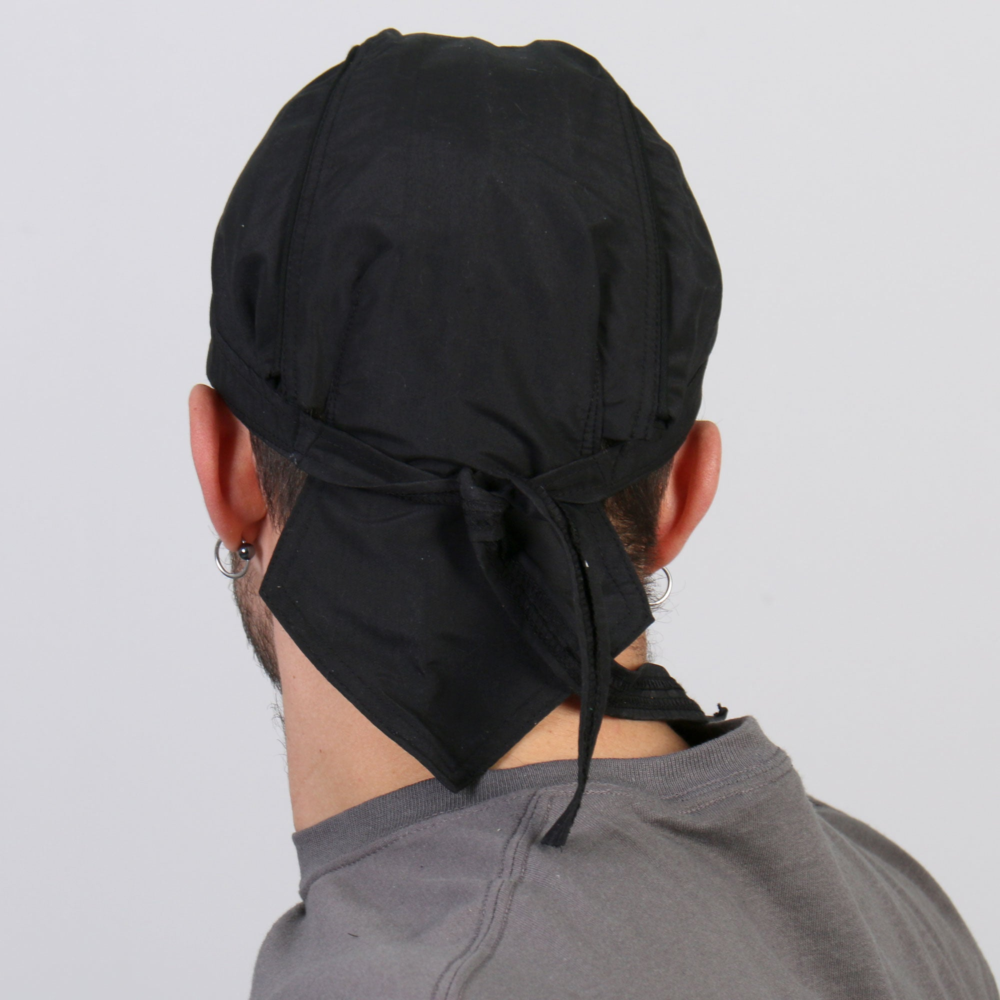 Hot Leathers Classic Black Premium Headwrap