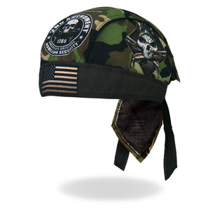 Hot Leathers Camo Skull Headwrap