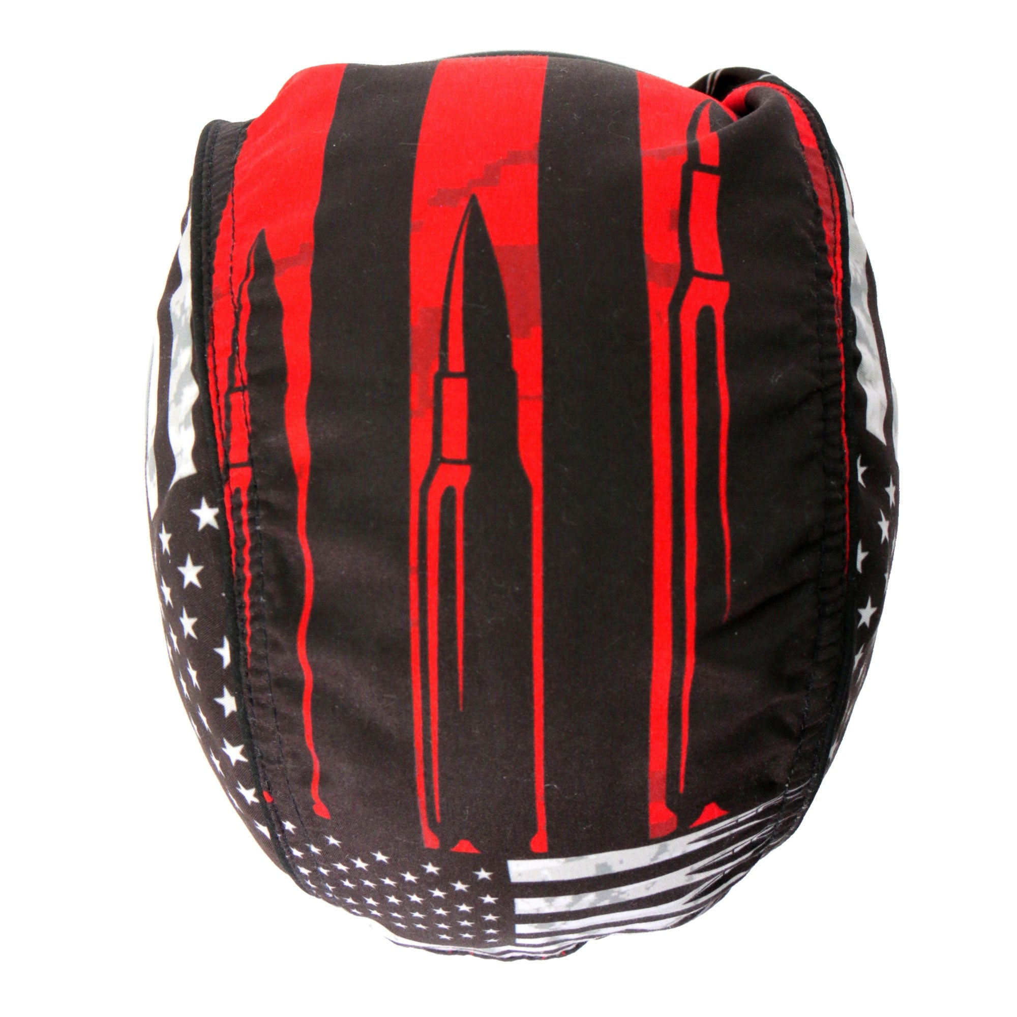 Hot Leathers Headwrap Flag Bullets