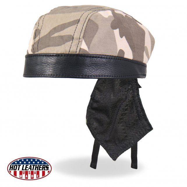 Hot Leathers Premium USA Made Leather Sand Camo Head Wrap