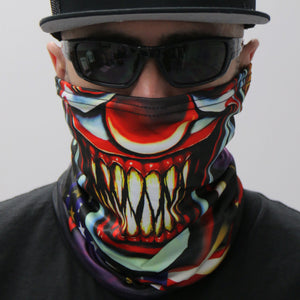 Hot Leathers Circus Clown Neck Gaiter Mask