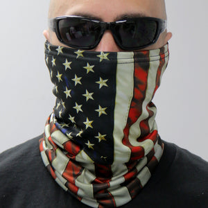 Hot Leathers Vintage Flag Neck Gaiter Mask
