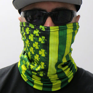 Hot Leathers Shamrock Flag Neck Gaiter Mask