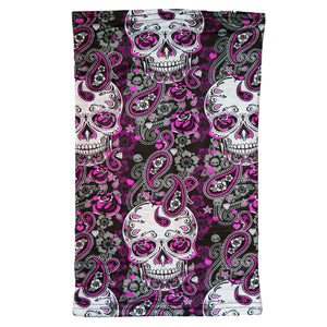 Hot Leathers Paisley Skull Neck Gaiter Mask