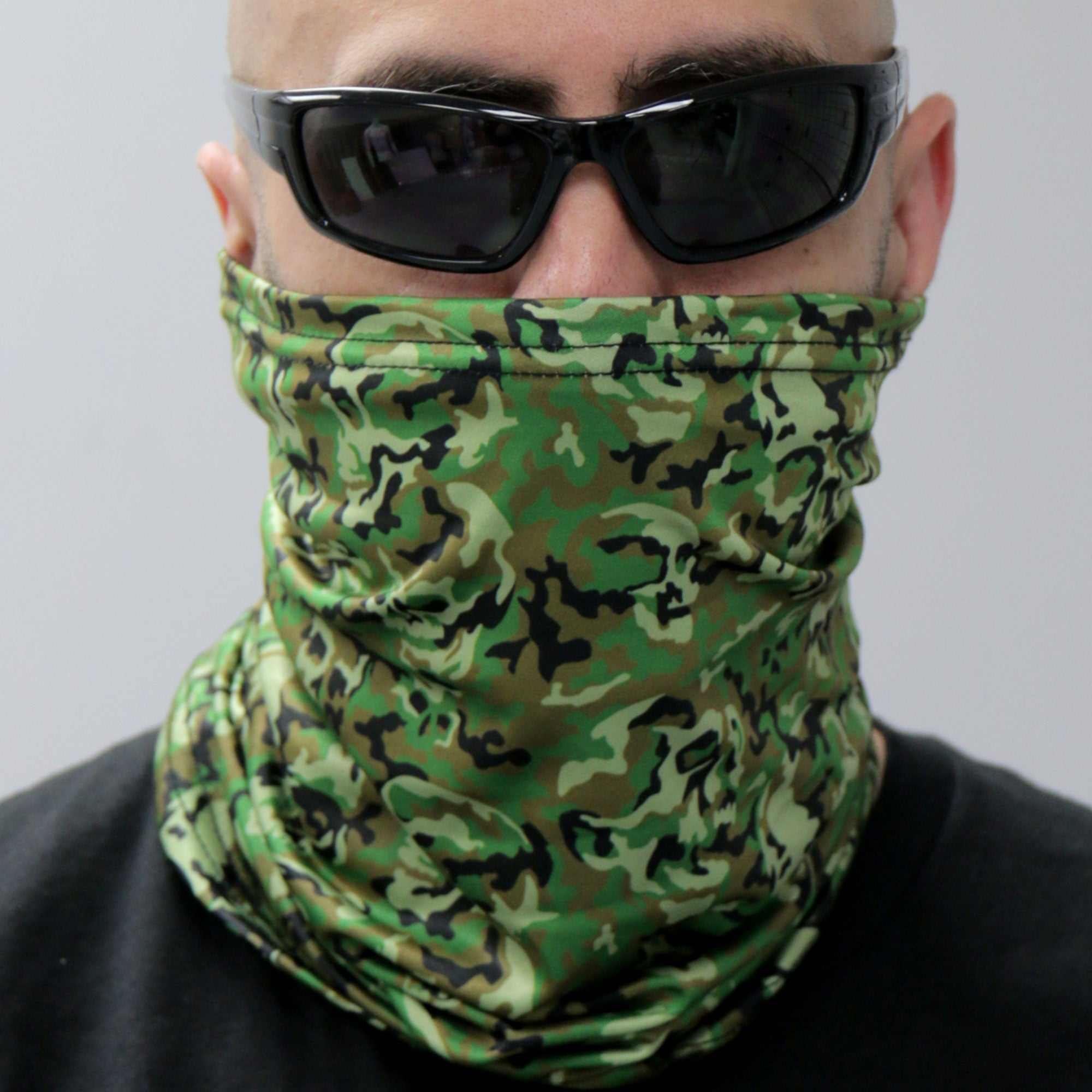 Hot Leathers Camo Skull Pattern Neck Gaiter Mask