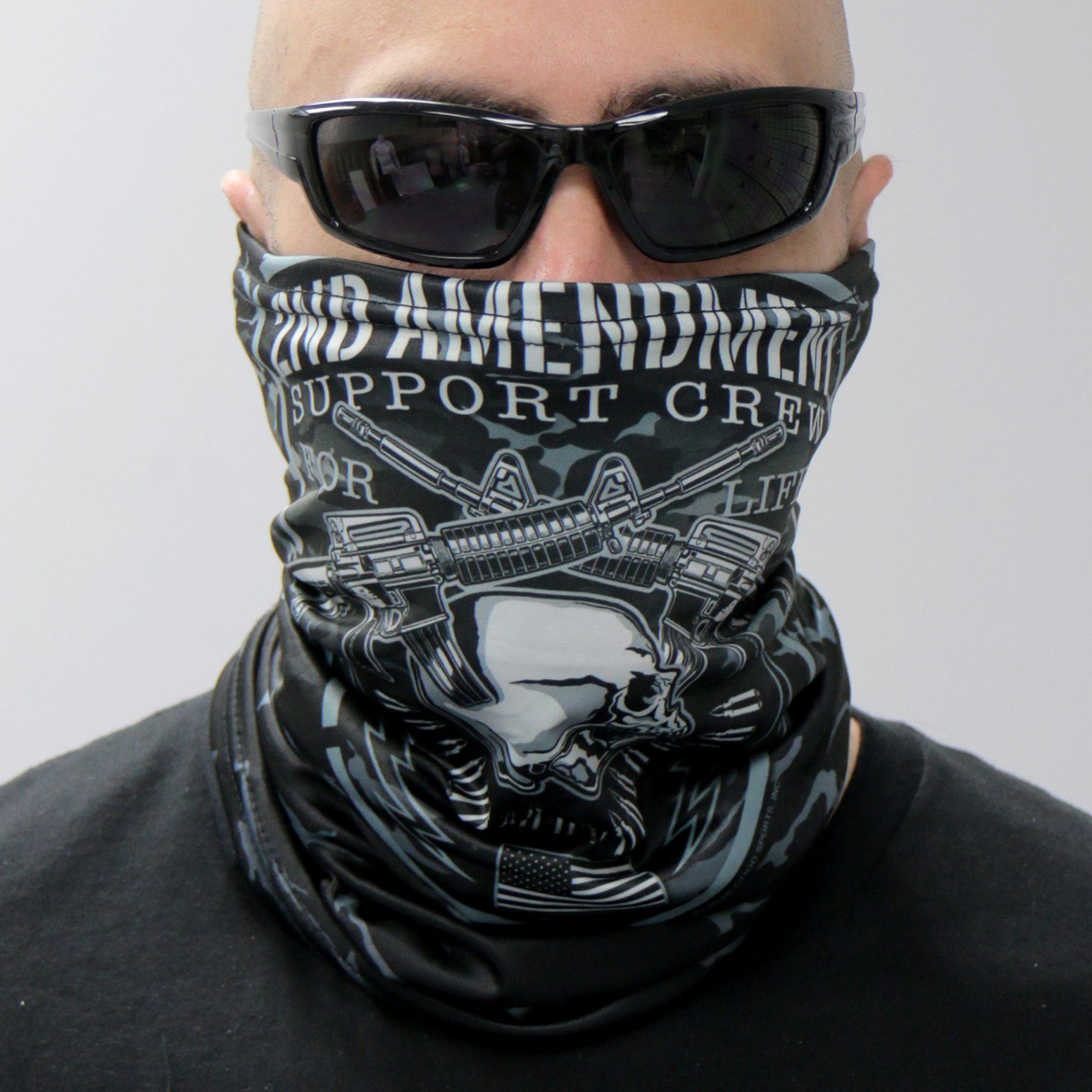 Hot Leathers 2nd Amendment Support Crew Neck Gaiter Mask