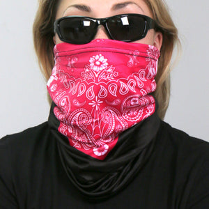 Hot Leathers Pink Paisley Neck Gaiter Mask