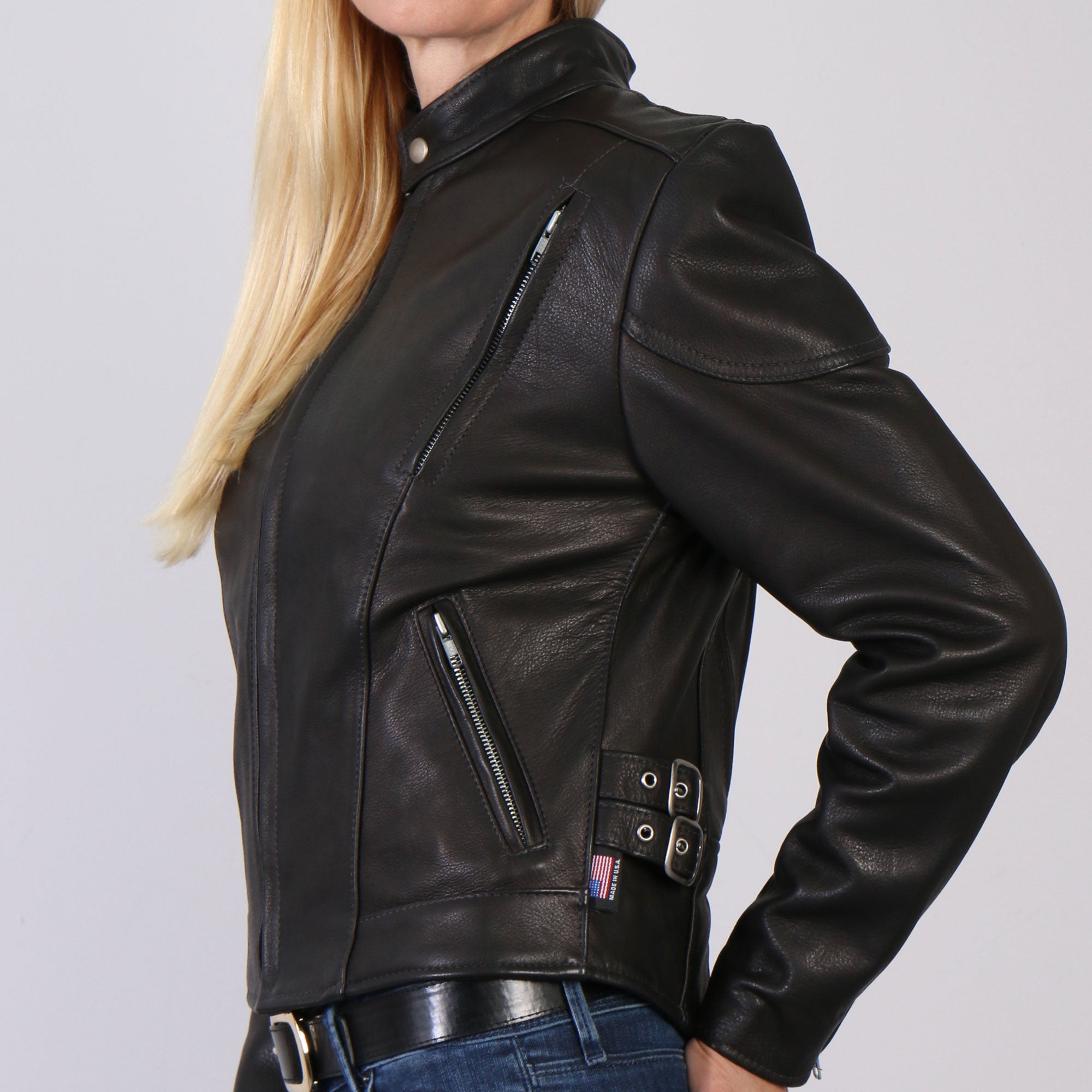 Hot Leathers USA MADE Ladies Vented Leather Jacket