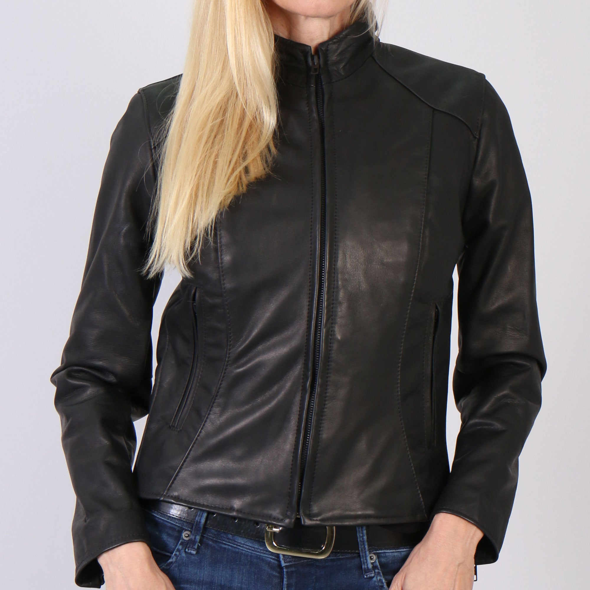 Hot Leathers USA Made Ladies Clean Cut Leather Jacket