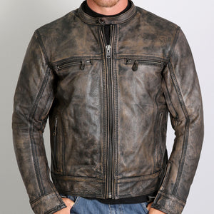 Hot Leathers Men's Heritage Collection Brown Leather Jacket