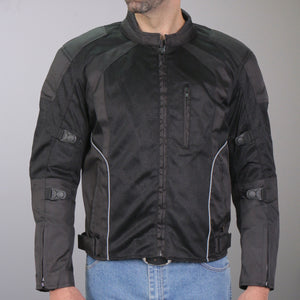 Hot Leathers Armored Jacket with Reflective Piping