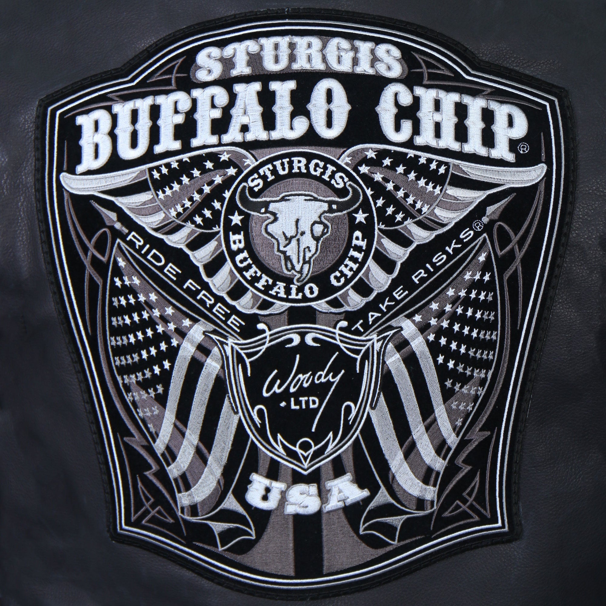 "Official Sturgis Buffalo Chip ""Woody Limited"" USA Made Premium Leather"