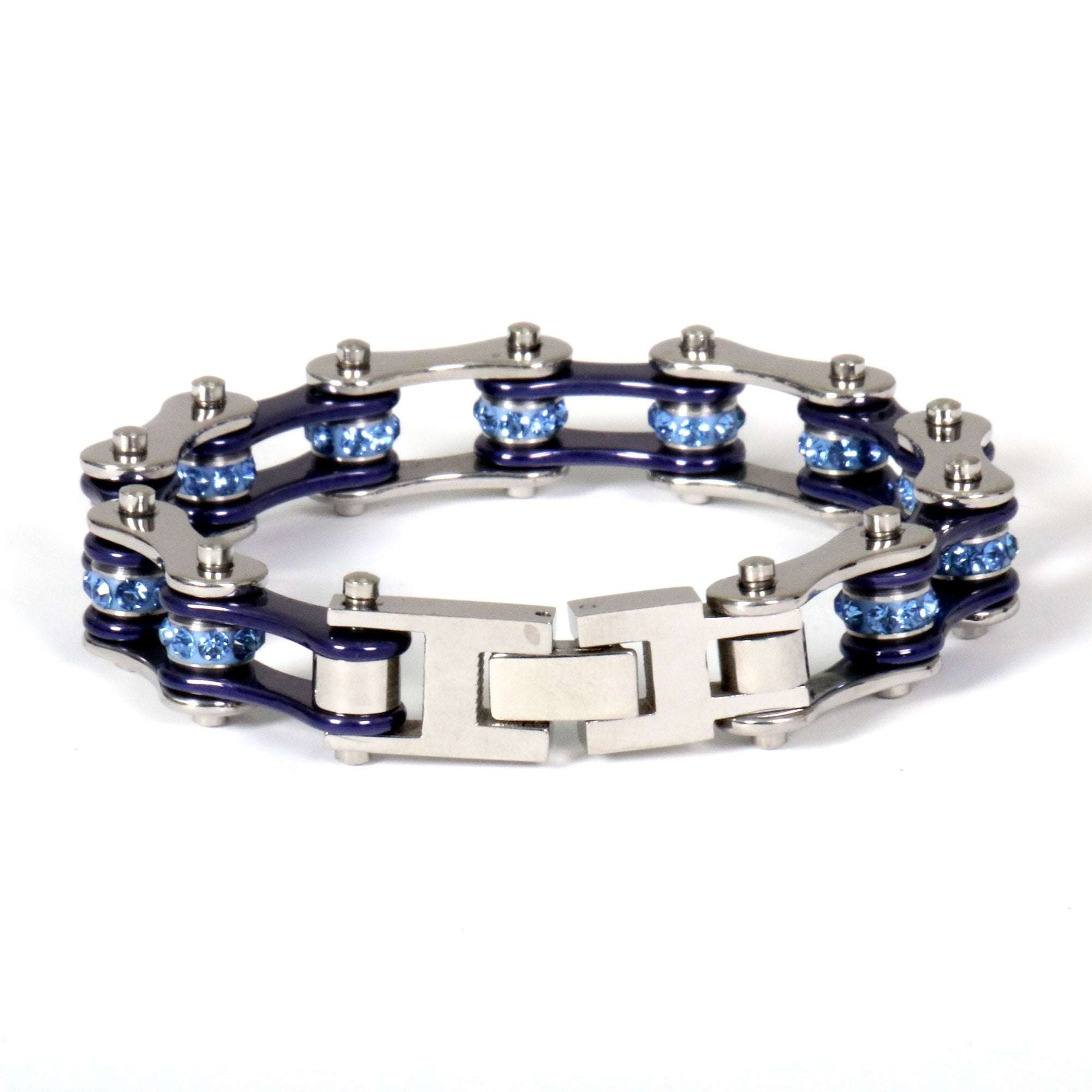 Hot Leathers Dark Blue Motorcycle Chain Bracelets