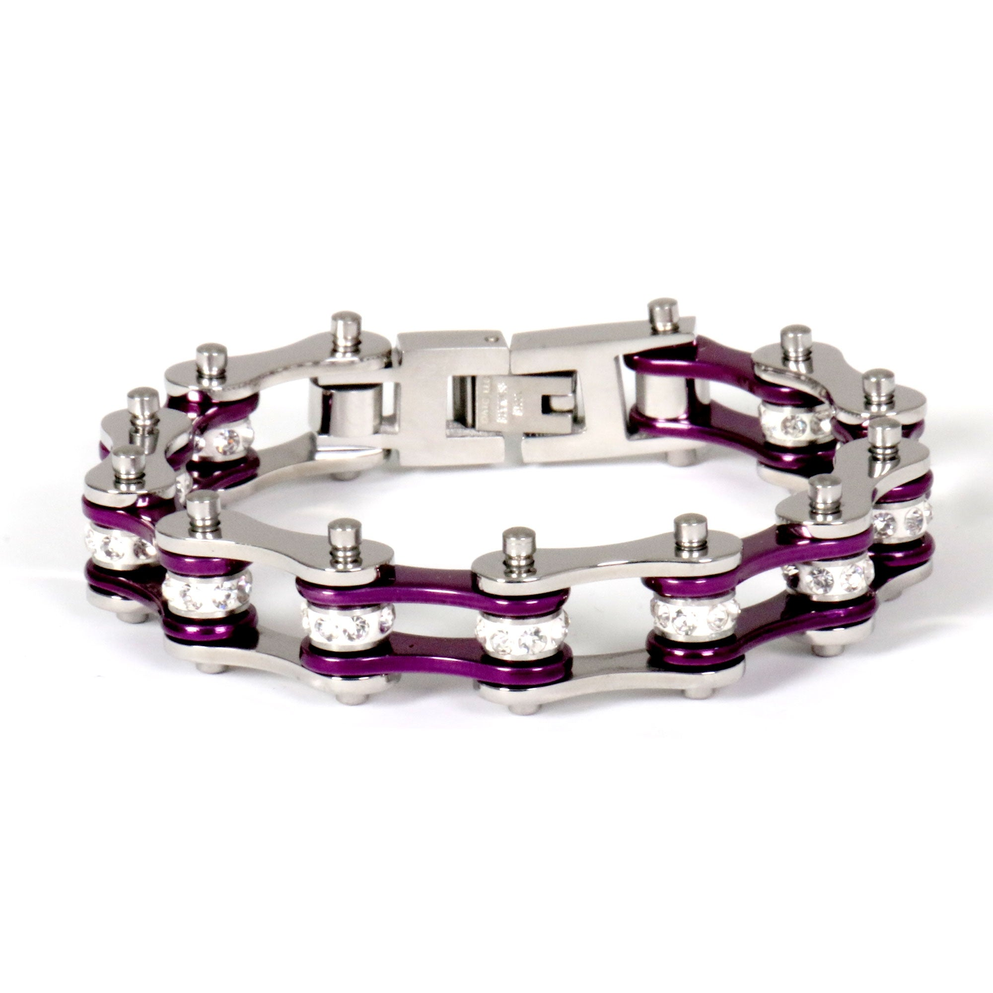 Hot Leathers Purple Motorcycle Chain Bracelets