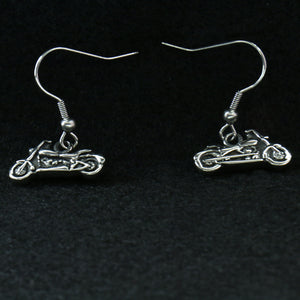 Hot Leathers Motorcycle Earrings