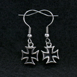Hot Leathers Iron Cross Earrings