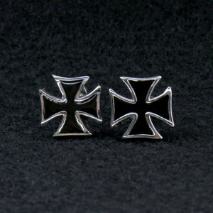 Hot Leathers Iron Cross Post Earrings