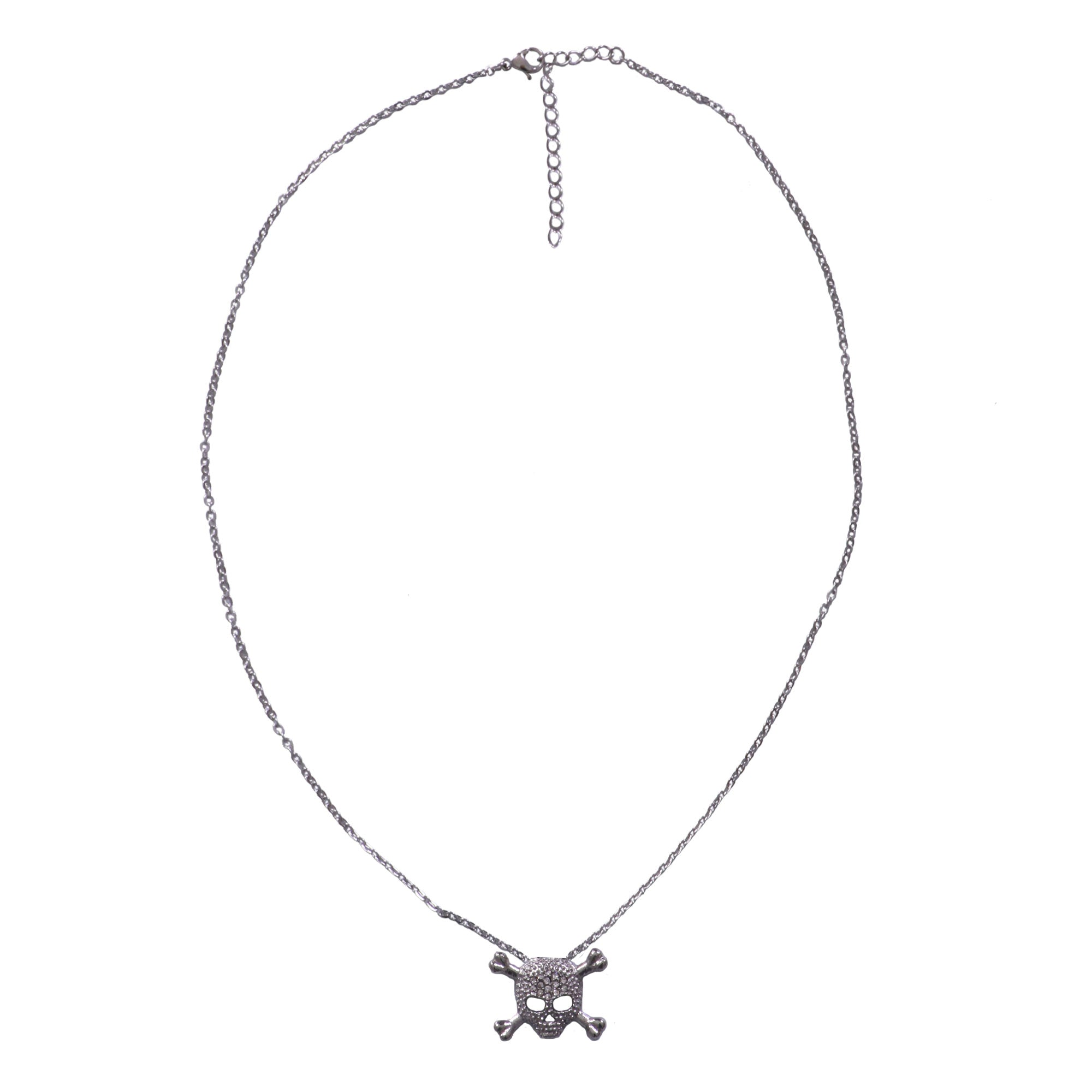 Hot Leathers Skull and Cross Bones Necklace