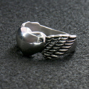 Hot Leathers Winged Heart Ring