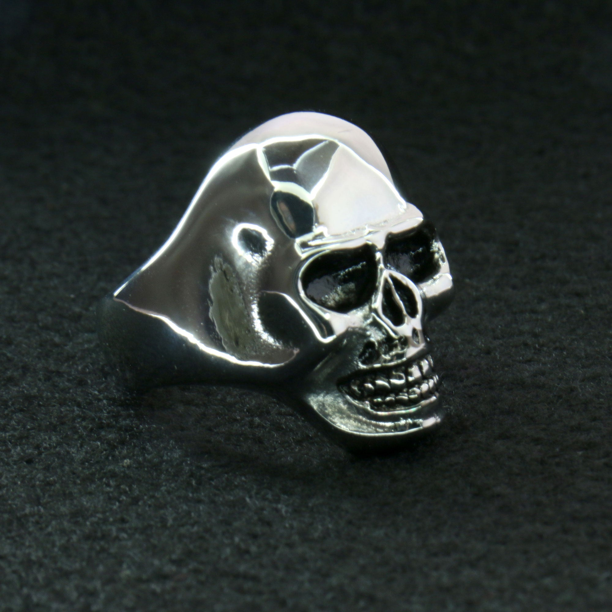 Hot Leathers Smooth Skull Ring