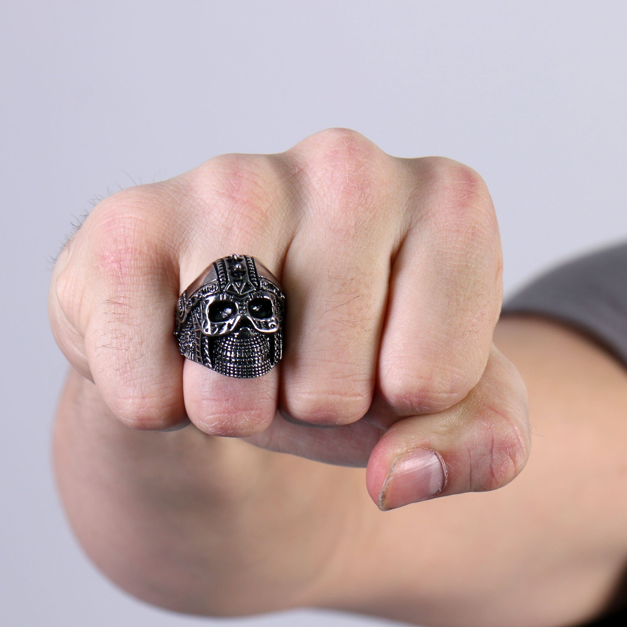 Hot Leathers Cyborg Skull Ring