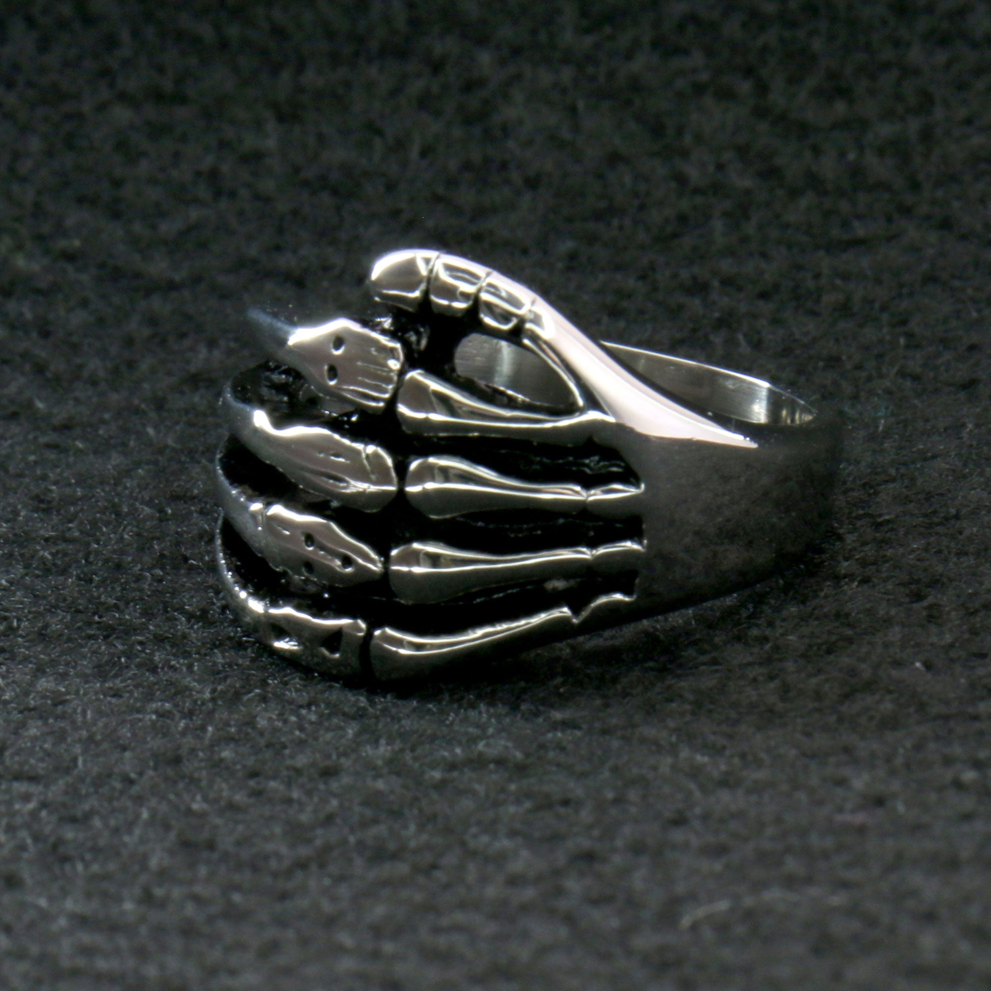 Hot Leathers Skeleton Hand Ring