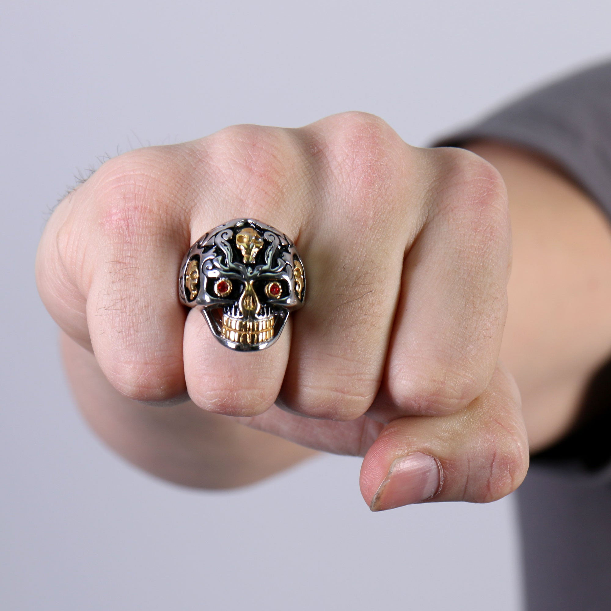 Hot Leathers Holy Toledo Skull Ring