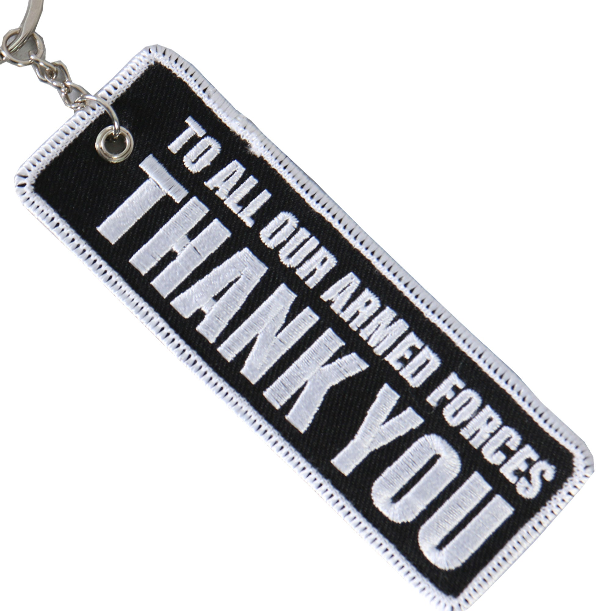 Hot Leathers Too All Our Armed Forces Thank You Embroidered Key Chain