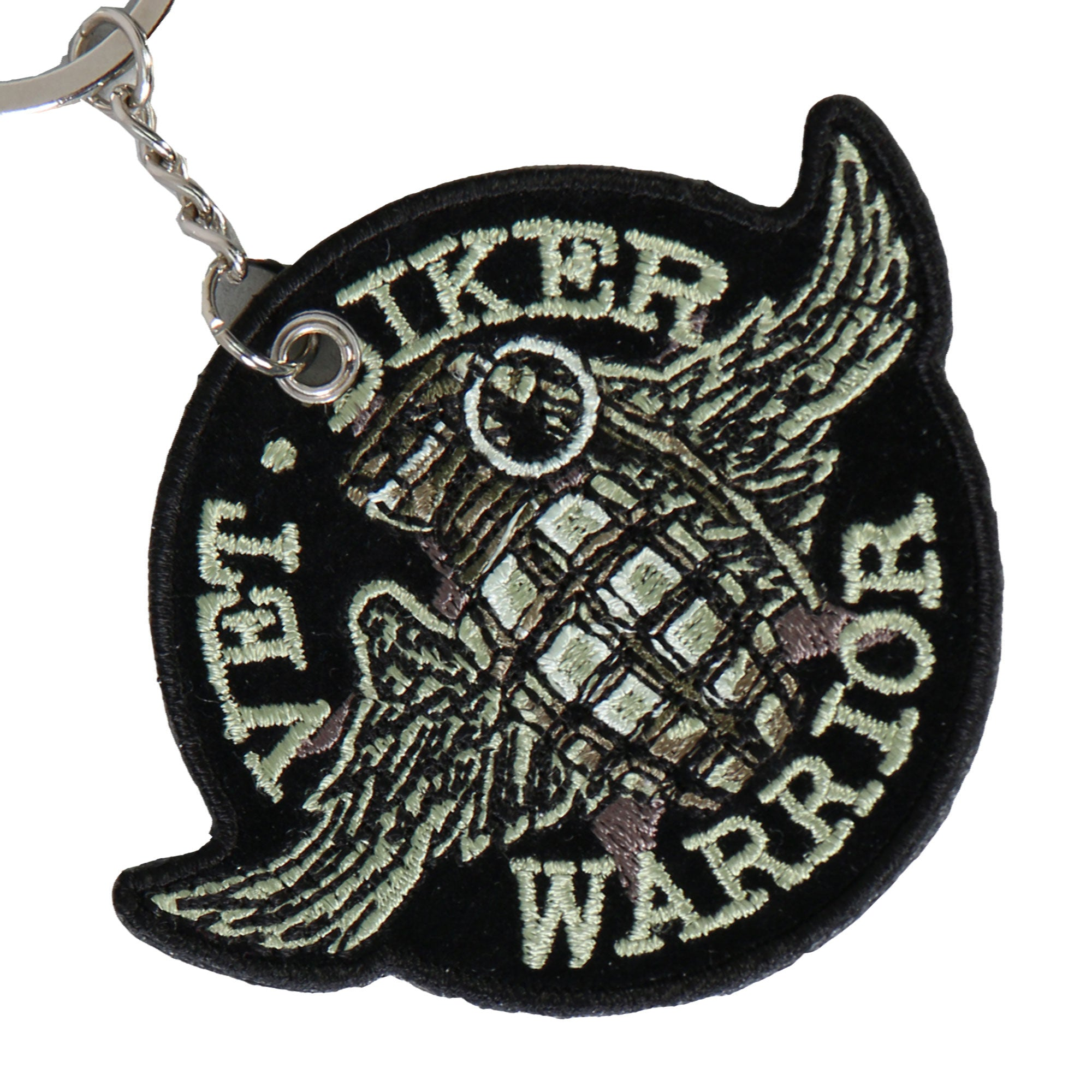 Hot Leathers Grenade Embroidered Key Chain