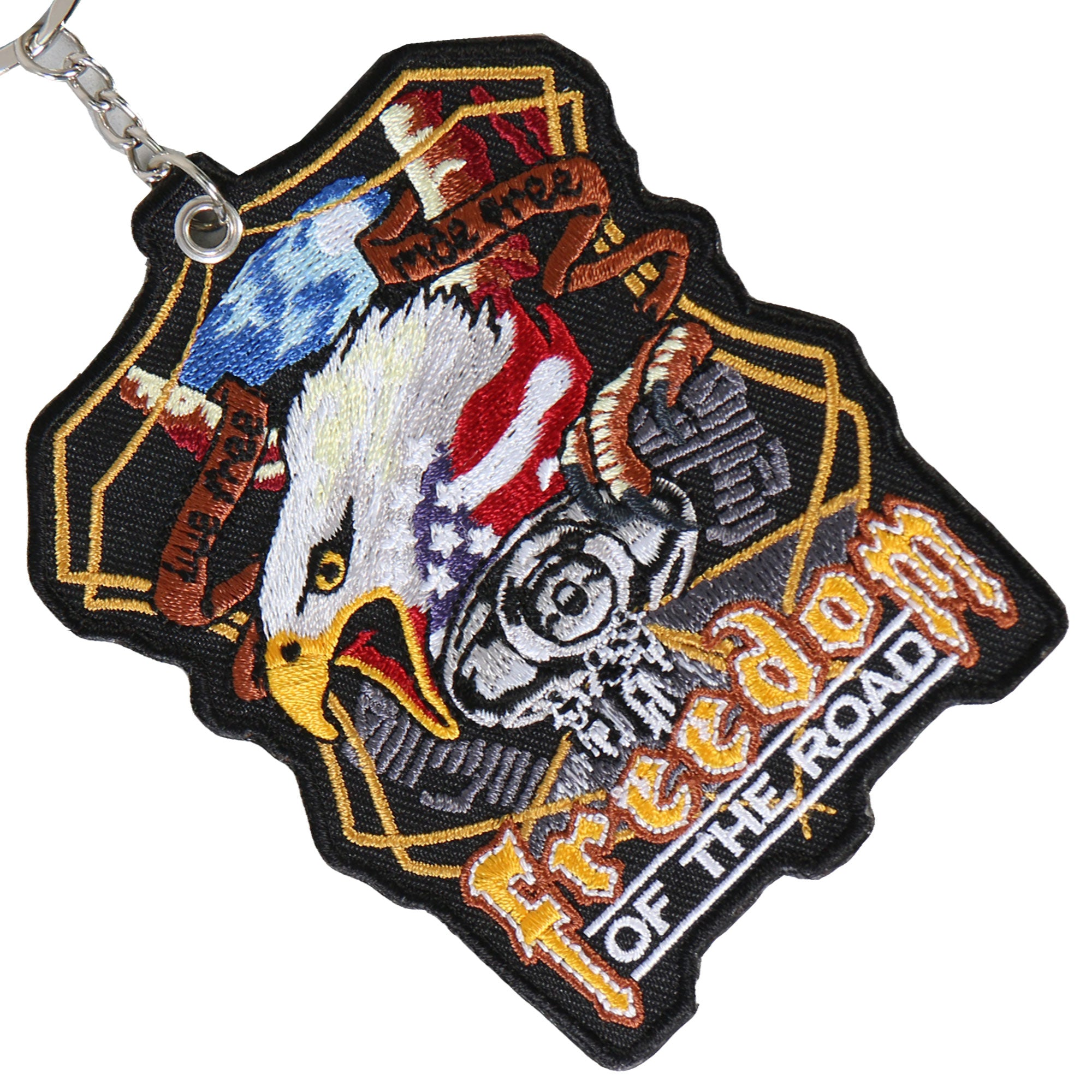 Hot Leathers Midnight Eagle Embroidered Key Chain