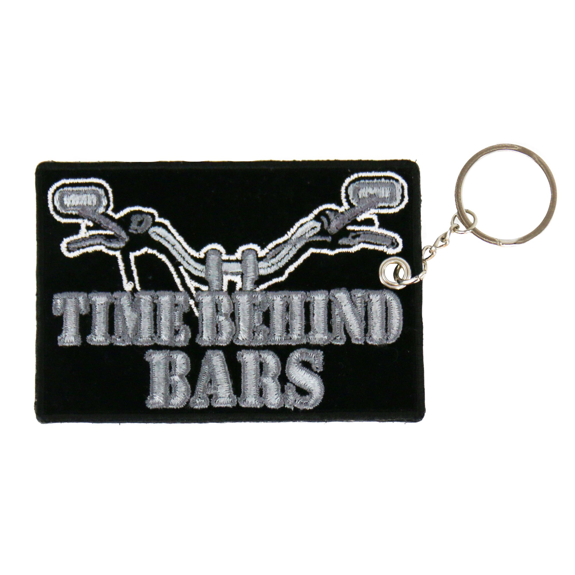 Hot Leathers Time Behind Bars Embroidered Key Chain