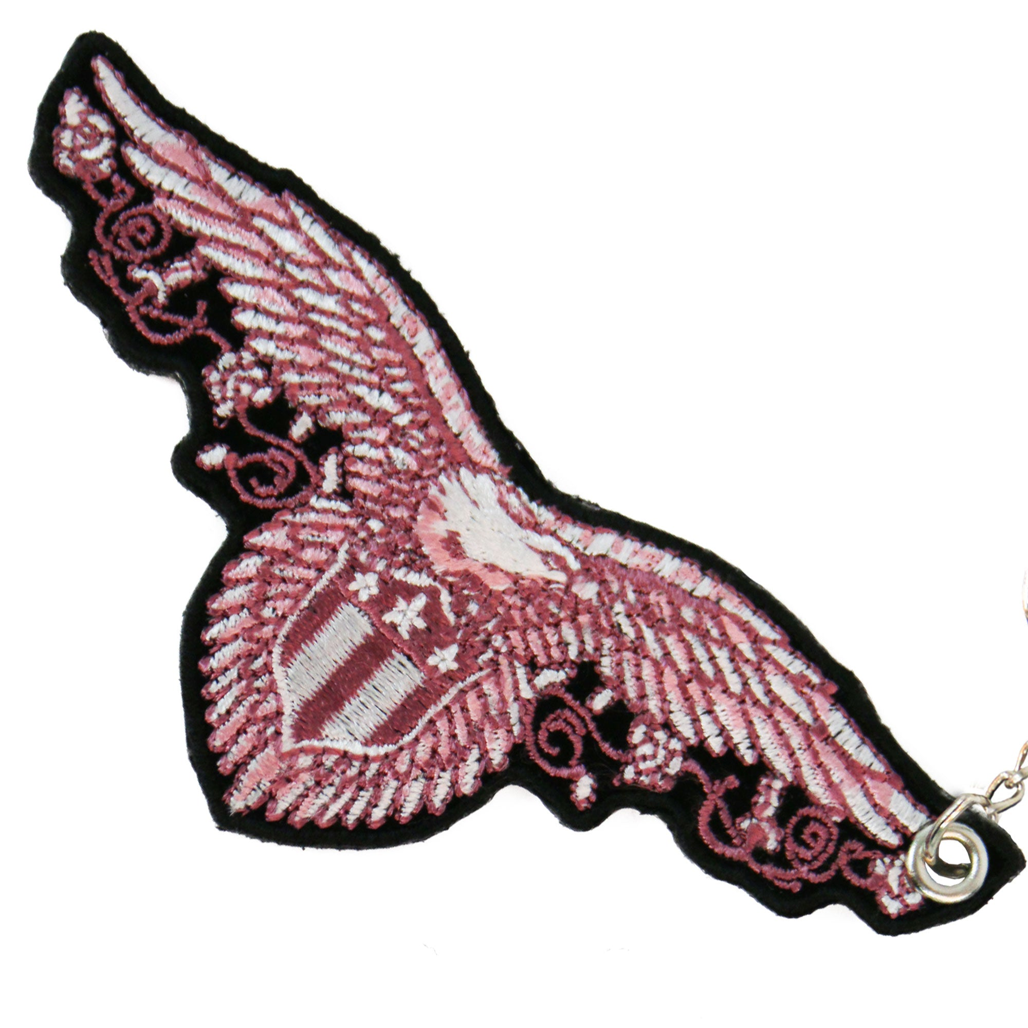 Hot Leathers Pink Eagle Embroidered Key Chain