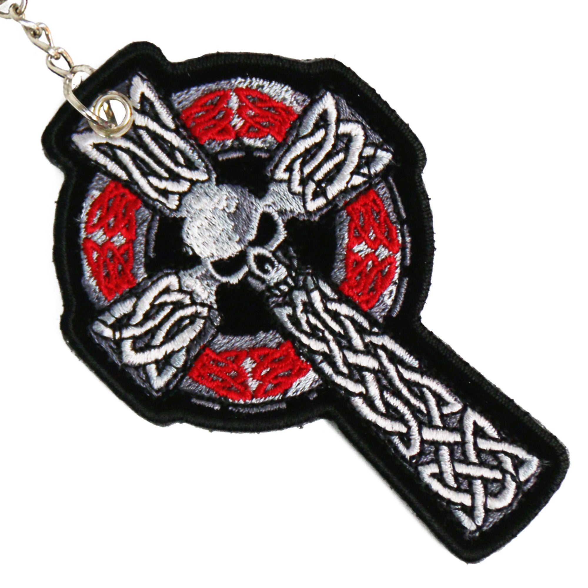 Hot Leathers Celtic Cross Embroidered Key Chain