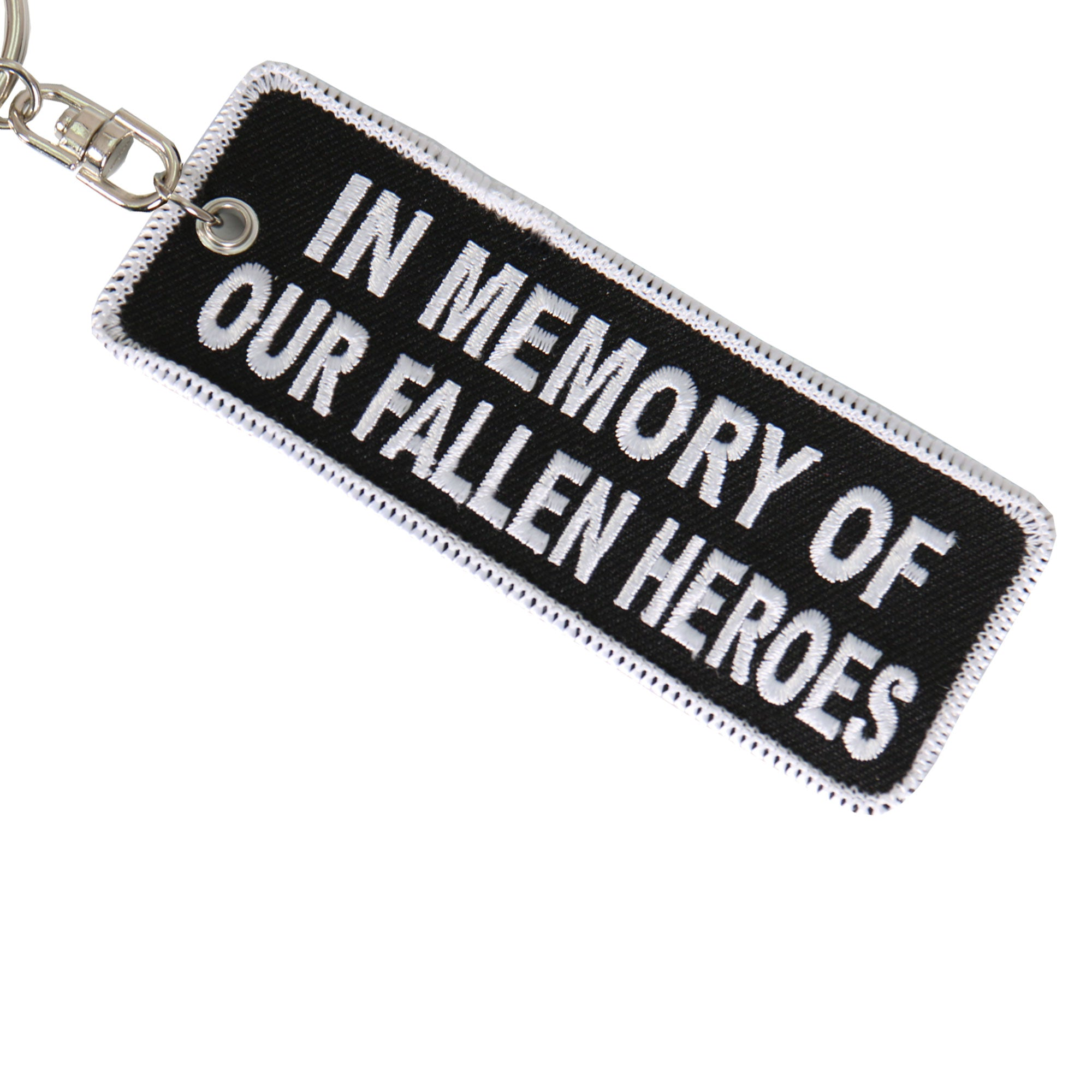 Hot Leathers In Memory Of Our Fallen Embroidered Keychain