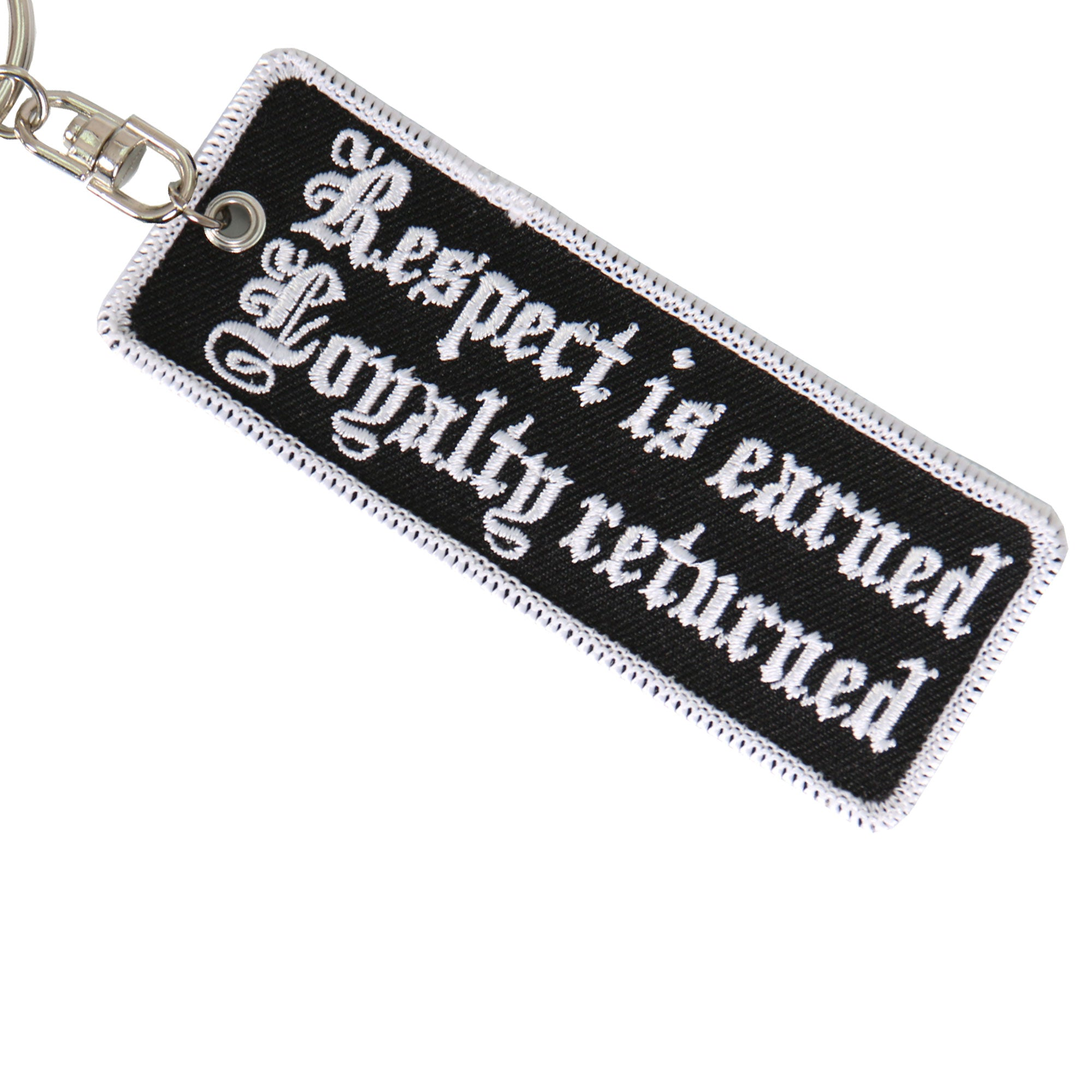 Hot Leathers Respect Is Earned Keychain