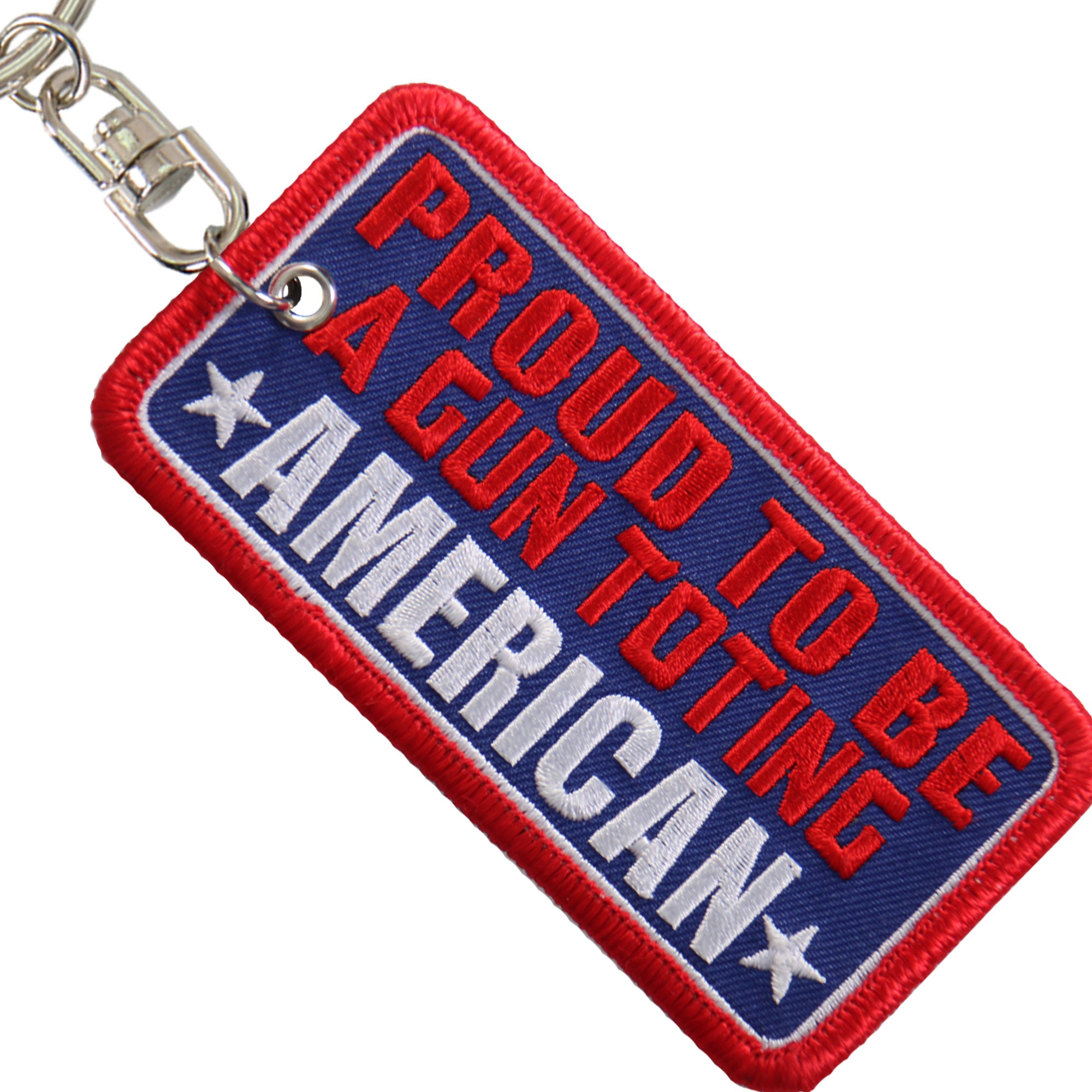 Hot Leathers Key Chain Patch Proud To Be a Gun Totting American