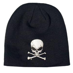 Hot Leathers Skull and Crossbones Knit Cap