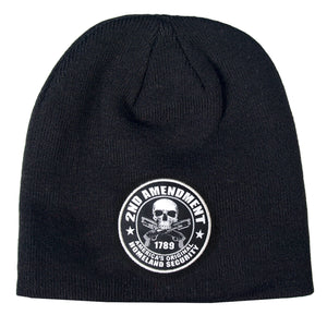 Hot Leathers 2nd Amendment America's Original Homeland Security Skull Knit Cap