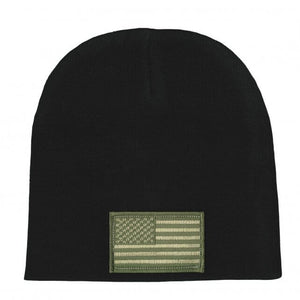 Hot Leathers Woodland Camo American Flag Knit Hat