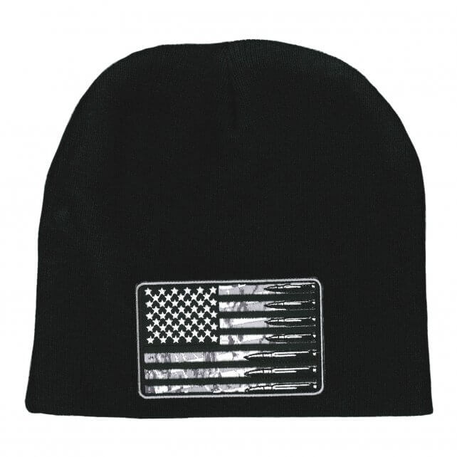 Hot Leathers USA Flag Bullets Knit Hat