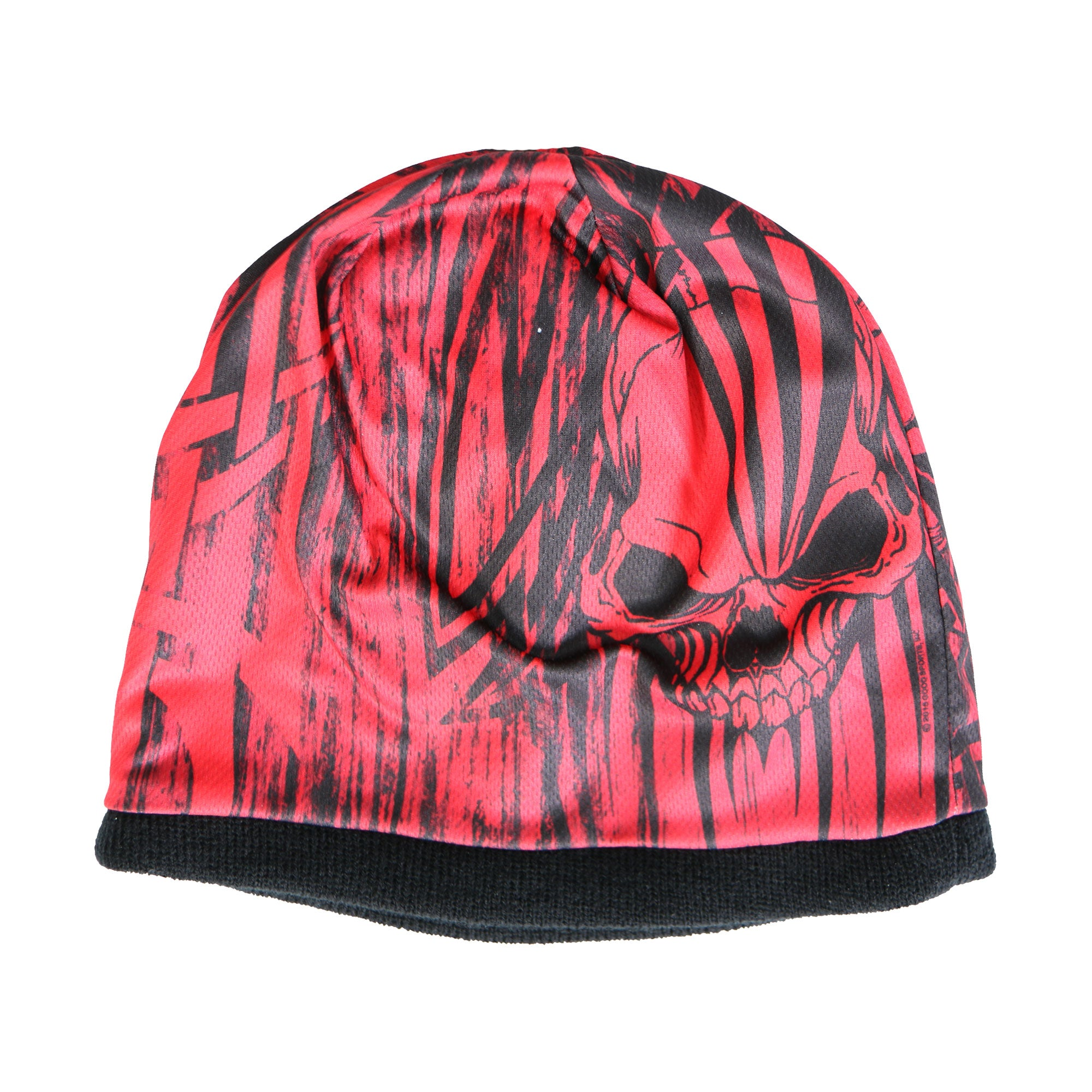 Hot Leathers Over The Top Skull Beanie