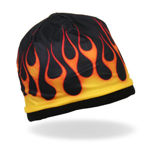 Hot Leathers Sublimated Flames Beanie