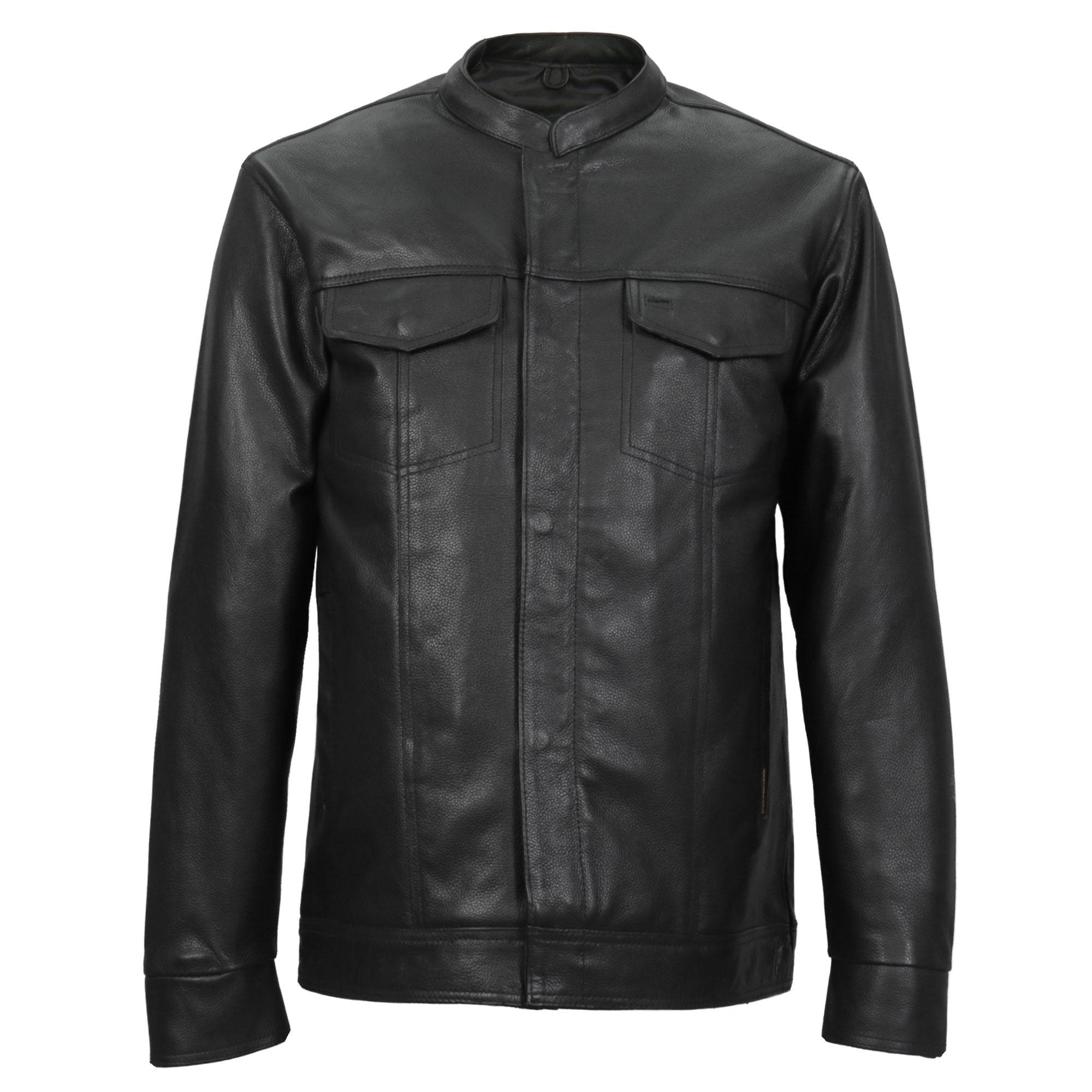 Hot Leathers Men's Club Style Leather Shirt