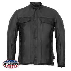 Hot Leathers Men's USA Made Premium Leather Shirt