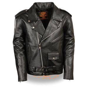 Milwaukee Leather LKY1950 Youth Size Classic Style Police Biker Leather Jacket - Milwaukee Leather Kids Leather Jackets