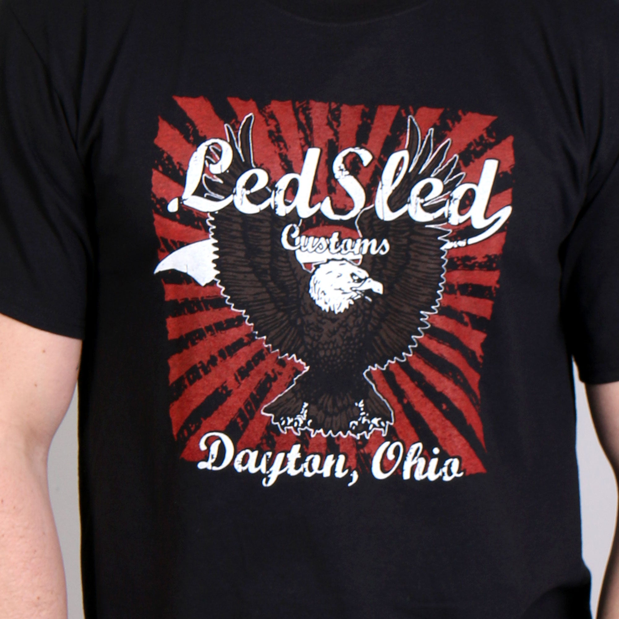 Official Led Sled Customs Eagle T-Shirt