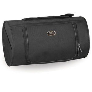 Milwaukee Performance MP8175 Black Textile Roll Top Bag with Zipper Closure - Milwaukee Performance Sissy Bar Bags