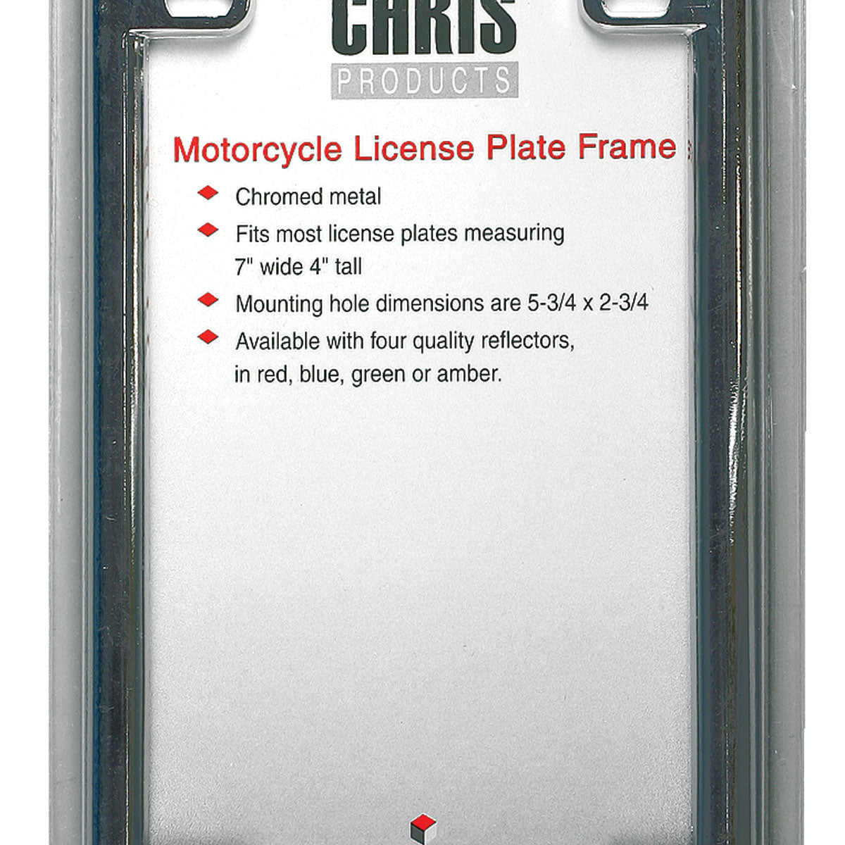 Hot Leathers Motorcycle License Plate Frame