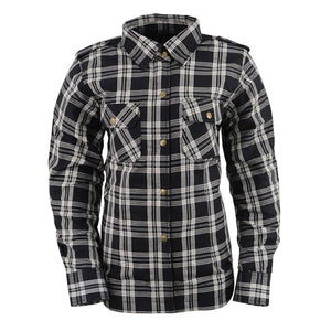 Milwaukee Performance MPL2600 Ladies Black and White Armored Flannel Shirt with Kevlar Protection