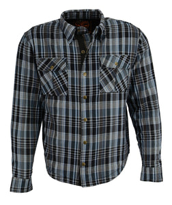 Milwaukee Performance MPM1626 Men's Armored Flannel Biker Shirt with Aramid® by DuPont™ Fibers